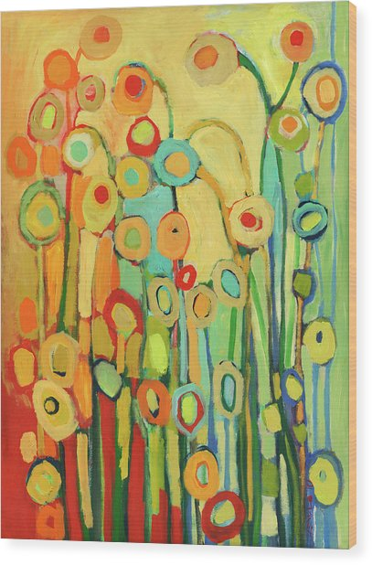 Dance Of The Flower Pods Wood Print
