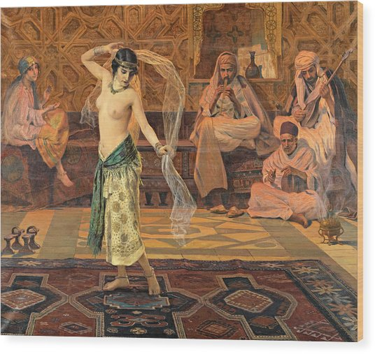 Dance Of The Seven Veils Wood Print