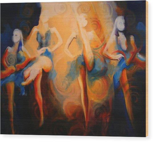 Dance Of The Sidheog Wood Print