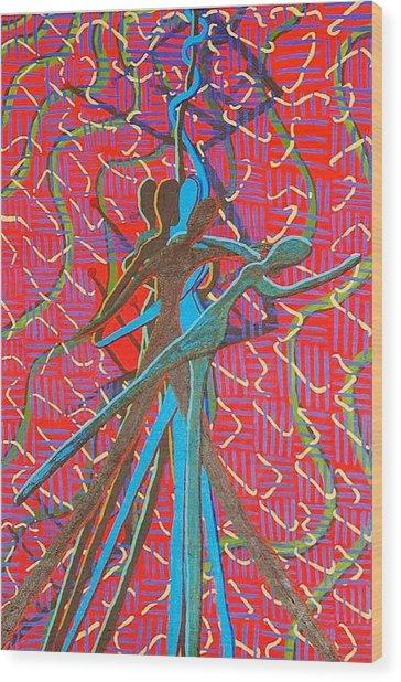 Dance With Me Wood Print by Rika Maja Duevel