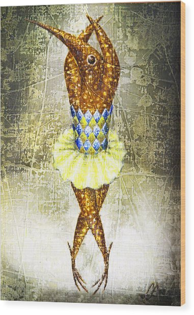 Dancer 2  Wood Print by Lolita Bronzini