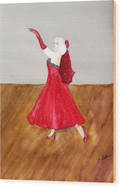Dancer Wood Print by Cathy Jourdan