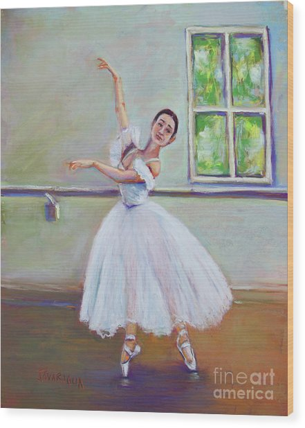 Dancer Wood Print by Joyce A Guariglia