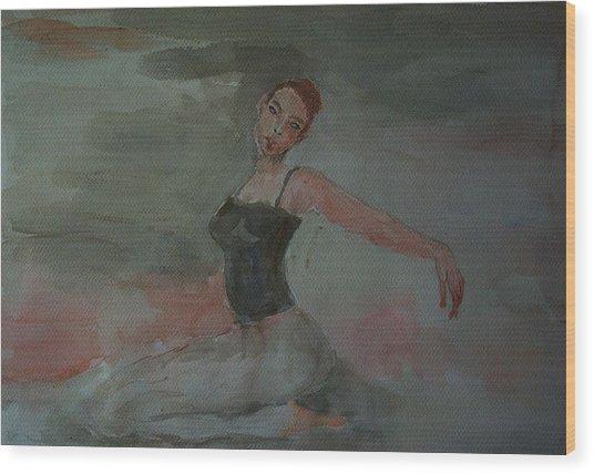 Dancer Wood Print by Liliana Andrei