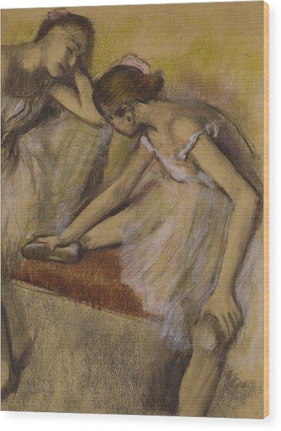 Dancers In Repose Wood Print