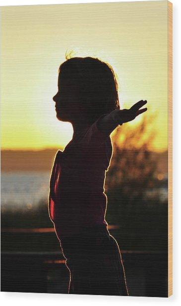 Dancing At Sunset Wood Print