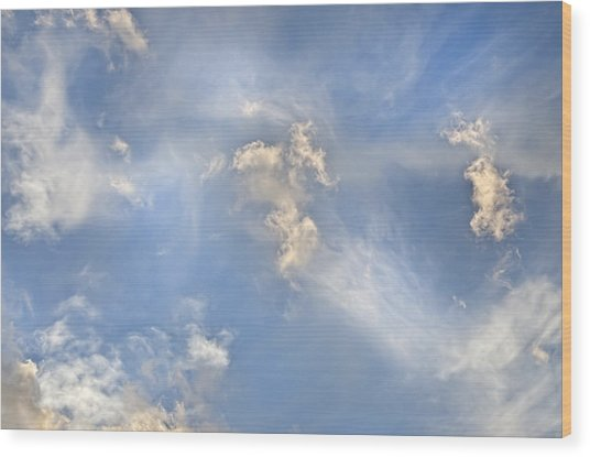 Dancing Clouds Wood Print