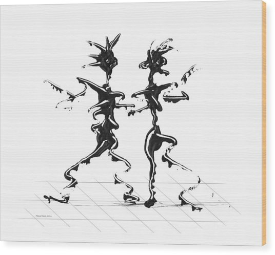 Dancing Couple 2 Wood Print