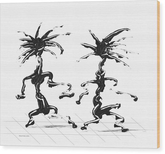 Dancing Couple 5 Wood Print
