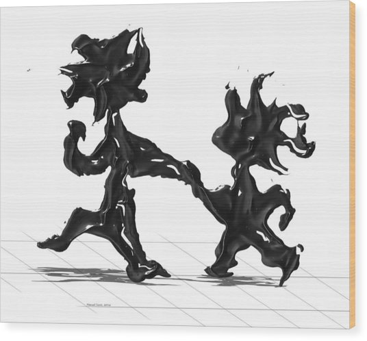 Dancing Couple 6 Wood Print