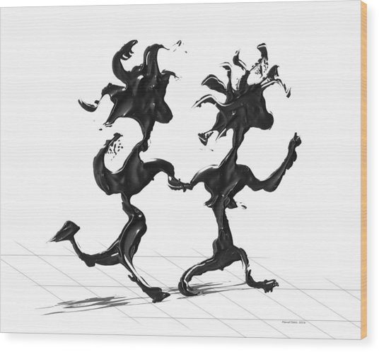 Dancing Couple 7 Wood Print