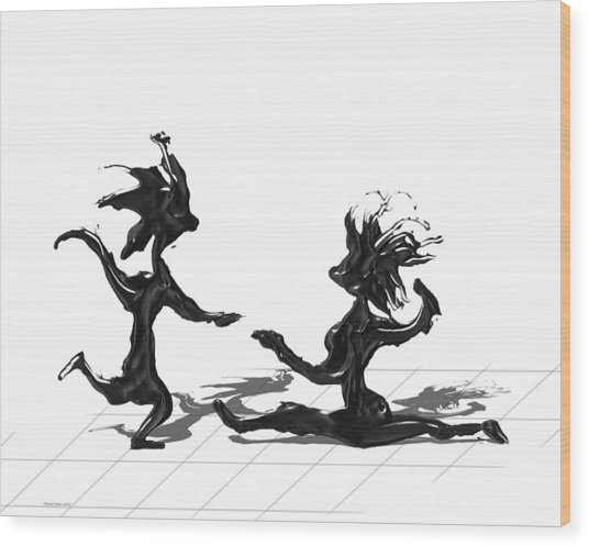 Dancing Couple 9 Wood Print