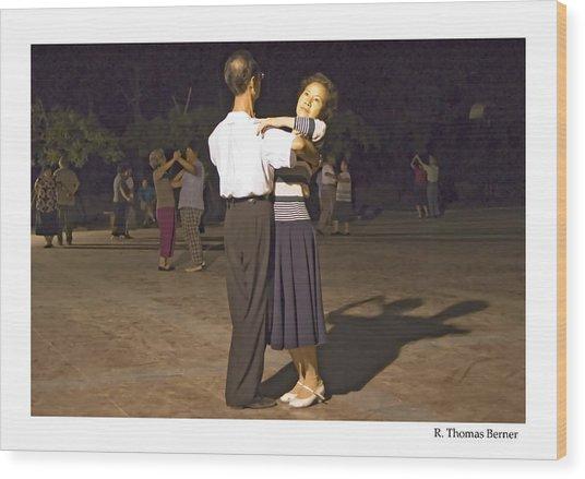 Dancing Couple Wood Print