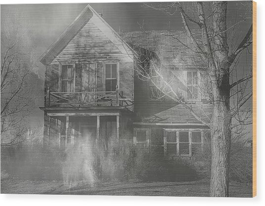 Dancing Ghosts Wood Print