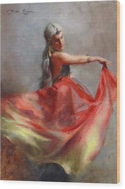 Dancing Gypsy Wood Print