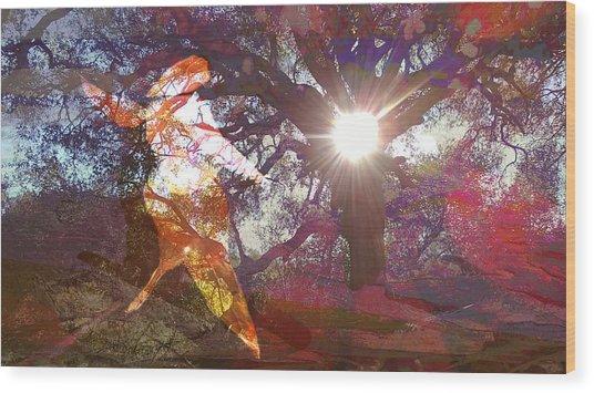 Dancing In The Park.. Wood Print