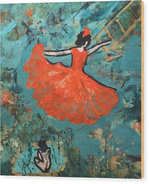 Dancing Lady Wood Print