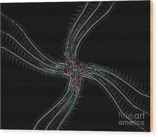Dancing Neuron Wood Print by Patrick Guidato