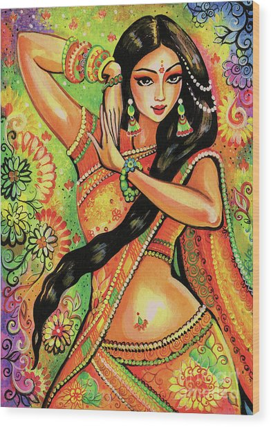 Dancing Nithya Wood Print