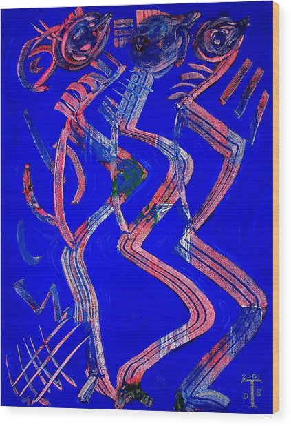 Dancing Queen Wood Print by Teo Santa