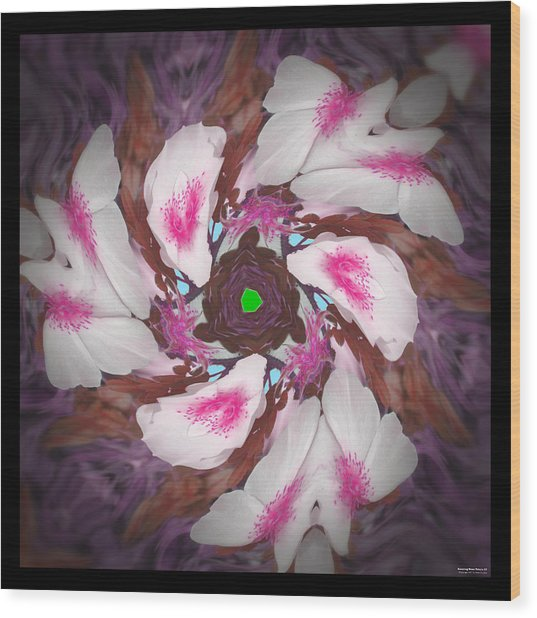 Dancing Rose Petals 57 Wood Print
