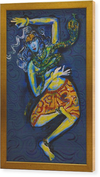 Dancing Shiva Wood Print