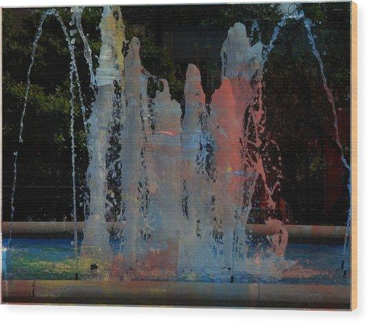 Dancing Waters Kaleidoscope Wood Print