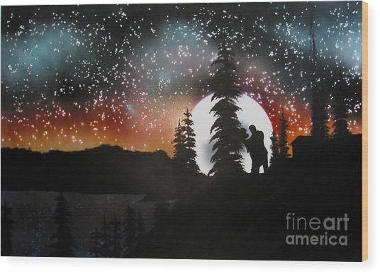 Dancing With You Wood Print by Ed Moore