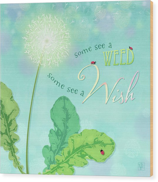 Dandelion Wish Wood Print