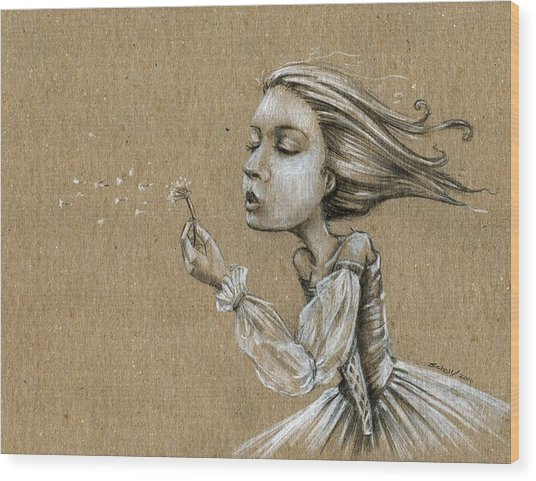 Dandelion Wishes Wood Print by Michael Scholl
