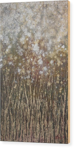 Dandelions Wood Print by Steve Ellis
