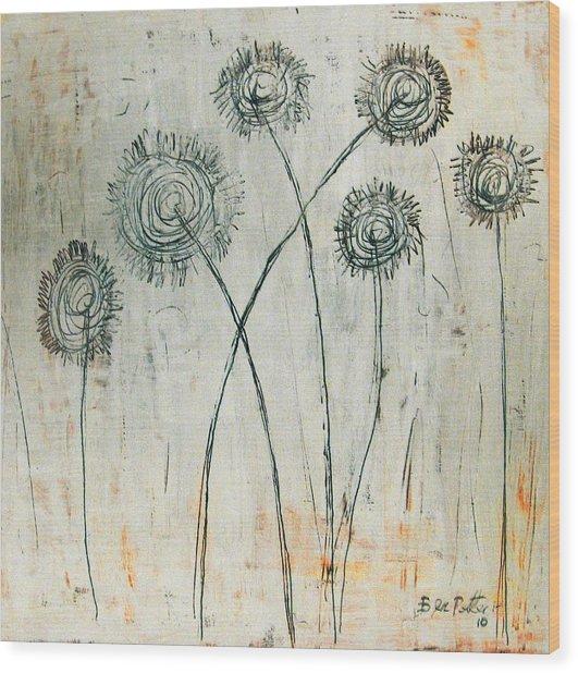 Dandies Wood Print by Ben Potter