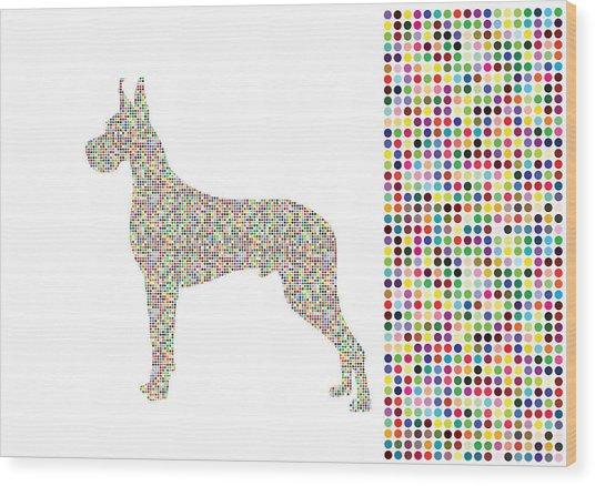 Dane Dots Wood Print