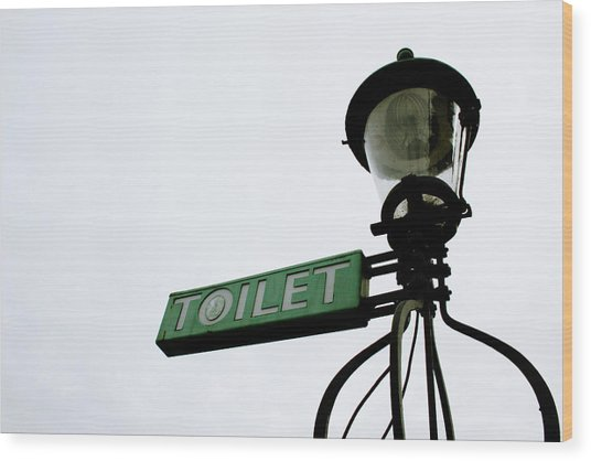 Danish Toilet Sign Wood Print