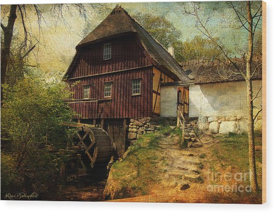 Danish Watermill Anno 1600 Wood Print