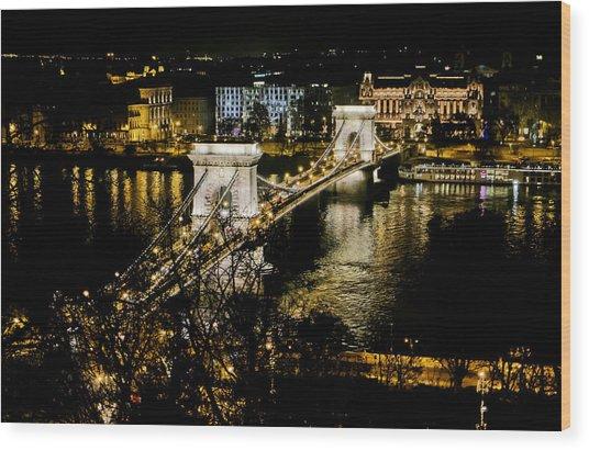 Danube Chain Bridge Wood Print