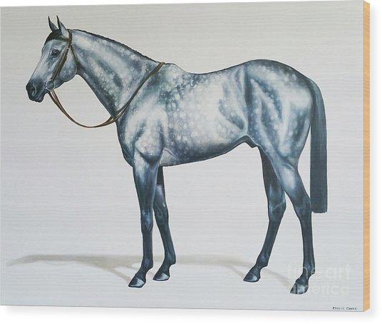 Dapple Gray Wood Print