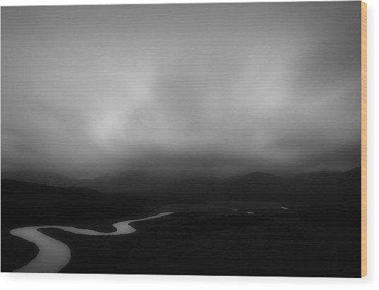 Darby River Wood Print