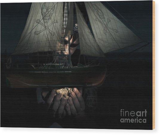 Dark Adventure Wood Print