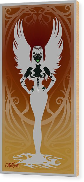Dark Angel Wood Print by Cristina McAllister