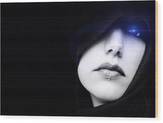 Dark Angel Wood Print