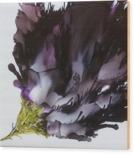 Dark Beauty Wood Print