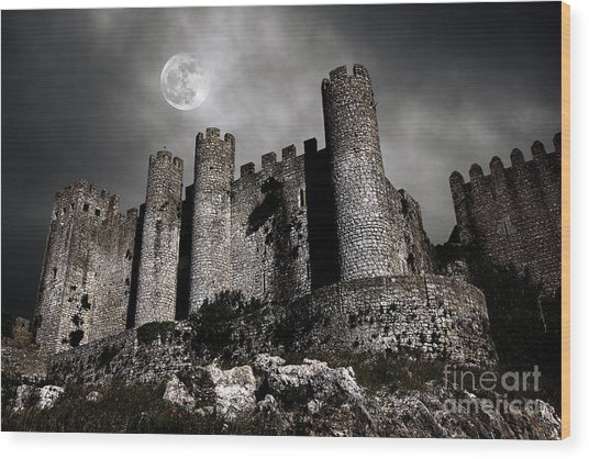 Dark Castle Wood Print