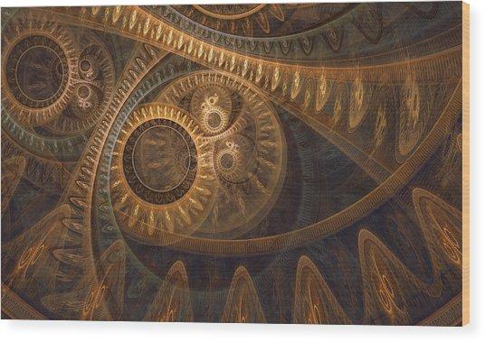 Dark Chronos Wood Print