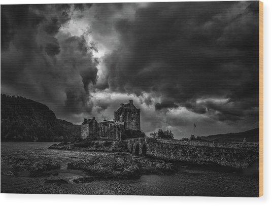 Dark Clouds Bw #h2 Wood Print