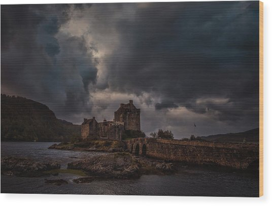 Dark Clouds #h2 Wood Print