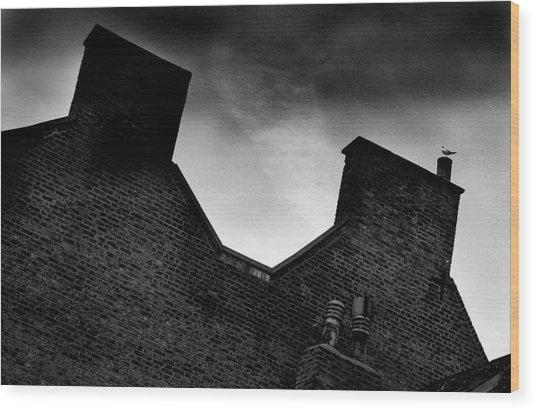 Dark Day In The Fens Wood Print by Jez C Self