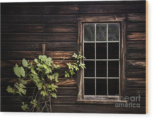Dark Entanglement Wood Print