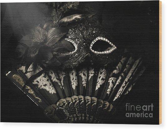Dark Night Carnival Affair Wood Print