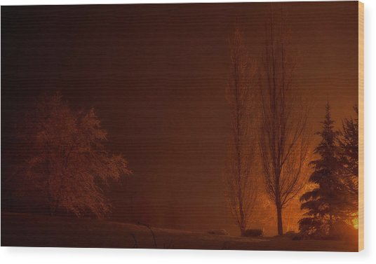 Dark Rising Wood Print by Brian Fisher